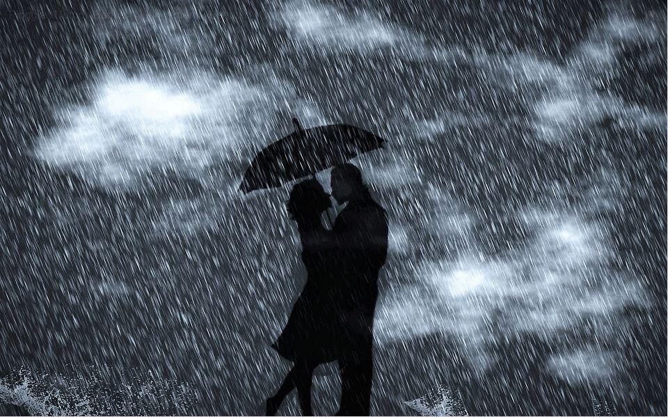 Innamorati sotto la pioggia strada dei parchi for Sotto la pioggia ombrelli